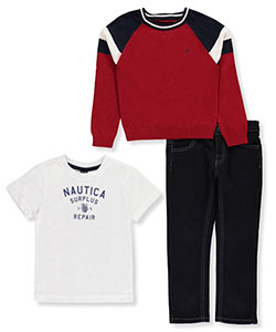 Nautica Little Boys' Toddler 3-Piece Outfit (Sizes 2T – 4T) - CookiesKids.com