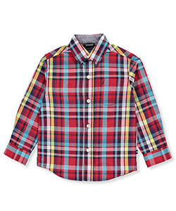 Nautica Little Boys' Toddler L/S Button-Down (Sizes 2T – 4T) - CookiesKids.com