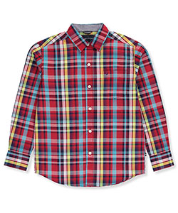 Nautica Big Boys' L/S Button-Down (Sizes 8 – 20) - CookiesKids.com