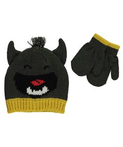 "Carter's Baby Boys' ""Singing Monster"" Beanie & Mittens Set - CookiesKids.com"