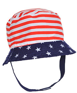 "Little Me Baby Boys' ""Patriot Chill"" Reversible Bucket Hat - CookiesKids.com"