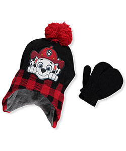 Paw Patrol Boys' Earflap Beanie & Mittens Set (Toddler One Size) - CookiesKids.com