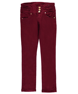 "KJ Big Girls' ""Pleat Waist"" Skinny Pants (Sizes 7 – 16) - CookiesKids.com"