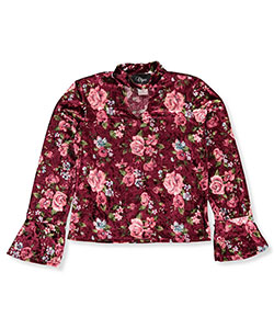 Objex Big Girls' Velvet L/S Top (Sizes 7 – 16) - CookiesKids.com