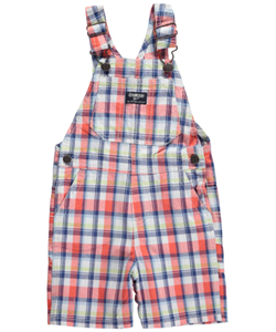 "OshKosh Baby Boys' ""Nostalgic Plaid"" Shortalls - CookiesKids.com"