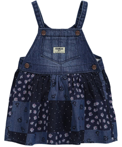 "OshKosh Baby Girls' ""Patchwork Floral"" Overall Skirt - CookiesKids.com"
