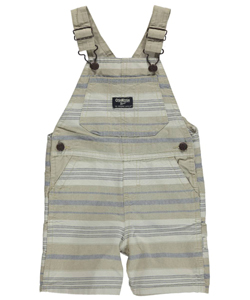 "OshKosh Baby Boys' ""Oxford Stripe"" Shortalls - CookiesKids.com"