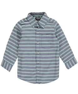 "OshKosh Little Boys' ""Wide Stripe"" Button-Down (Sizes 4 – 7) - CookiesKids.com"