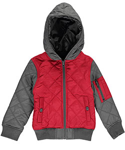 "Pelle Pelle Little Boys' Toddler ""Quilted Signature"" Jacket (Sizes 2T – 4T) - CookiesKids.com"