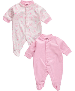 "Big Oshi Baby Girls' ""Cupcake"" 2-Pack Sleep Suits - CookiesKids.com"
