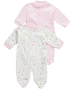 "Big Oshi Baby Girls' ""Nature Medley"" 2-Pack Sleep Suits - CookiesKids.com"