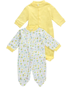 "Big Oshi Baby Unisex ""Playtime Medley"" 2-Pack Sleep Suits - CookiesKids.com"