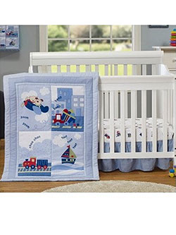 "Big Oshi ""Travel Collection"" 4-Piece Crib Set - CookiesKids.com"