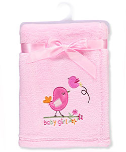 Big Oshi Baby Girls' Plush Blanket - CookiesKids.com