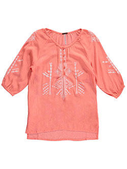 "Poof Girl Big Girls' ""Mirabelle"" Peasant Shirt (Sizes 7 – 16) - CookiesKids.com"