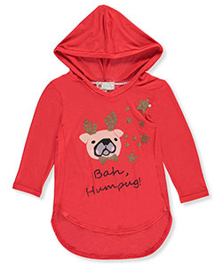 Poof Big Girls' L/S Hooded Top (Sizes 7 – 16) - CookiesKids.com