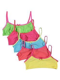"Sweet Princess ""Contrastic"" 5-Pack Sports Bras (Sizes 7 – 16) - CookiesKids.com"