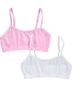 "Sweet Princess Big Girls' ""Solid Seamless"" 2-Pack Training Bras (Sizes 7 – 16) - CookiesKids.com"