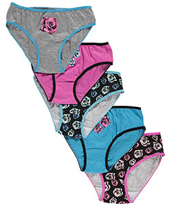 "Sweet Princess Big Girls' ""Rosy Sweetness"" 5-Pack Panties (Sizes 7 – 16) - CookiesKids.com"