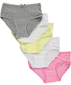 "Sweet Princess Little Girls' Toddler ""Bowed Basics"" 5-Pack Panties (Sizes 2T – 4T) - CookiesKids.com"