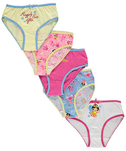 "Sweet Princess Little Girls' ""Fairy Princess"" 5-Pack Panties (Sizes 4 – 6X) - CookiesKids.com"
