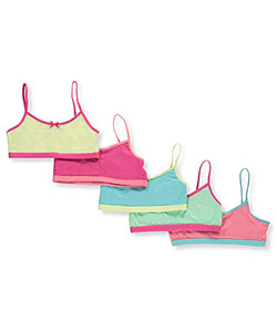 Sweet Princess 5-Pack Sports Bras - CookiesKids.com