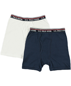 U.S. Polo Assn. Little Boys' 2-Pack Boxer Briefs (Sizes 4 - 7) - CookiesKids.com