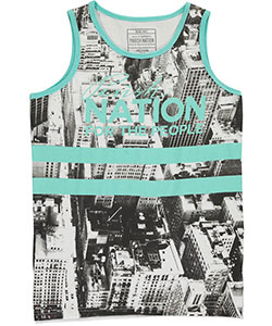 "Parish Nation Big Boys' ""City for the People"" Tank Top (Sizes 8 – 20) - CookiesKids.com"