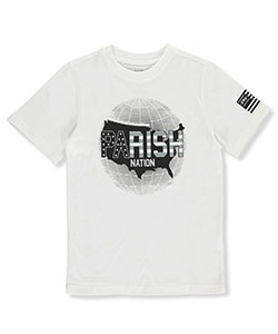 "Parish Nation Big Boys' ""Global American"" T-Shirt (Sizes 8 – 20) - CookiesKids.com"