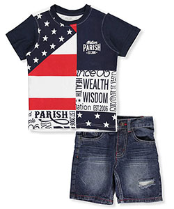"Parish Nation Little Boys' Toddler ""Wealth & Wisdom"" 2-Piece Outfit (Sizes 2T – 4T) - CookiesKids.com"