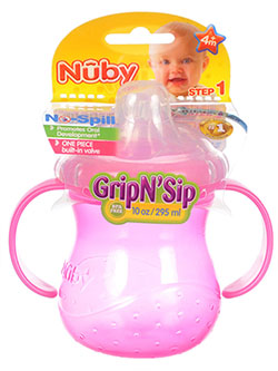 Nuby No-Spill Grip N' Sip Bottle (10 oz.) - CookiesKids.com