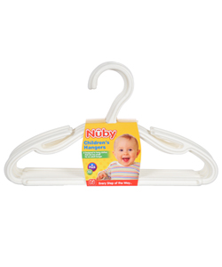 Nuby 6-Pack Children's Hangers - CookiesKids.com