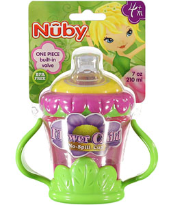 "Nuby ""Flower Child"" No-Spill Cup (7 oz.) - CookiesKids.com"