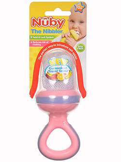 Nuby Nibbler with Ring Handle & Travel Cover - CookiesKids.com
