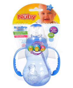 Nuby Non-Drip Standard Neck Bottle (7 oz.) - CookiesKids.com