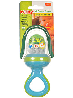 Nuby Garden Fresh Nibbler with Ring Handle & Travel Cover - CookiesKids.com