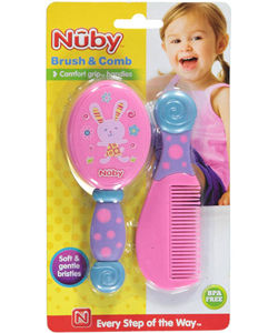 "Nuby ""Bubbly Bunny"" Brush & Comb - CookiesKids.com"
