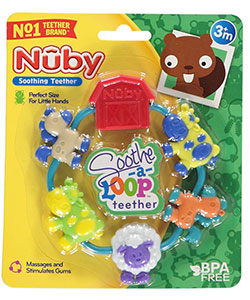Nuby Soothe-a-Loop Teether - CookiesKids.com