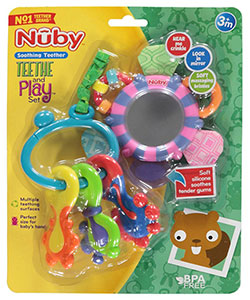 Nuby Teethe and Play Set - CookiesKids.com