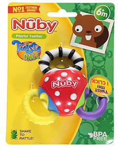 Nuby Twista Ball Teether - CookiesKids.com