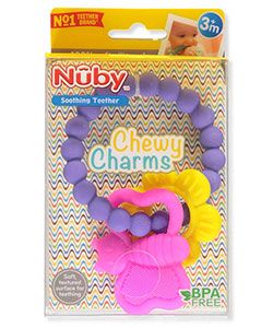 Nuby Chewy Charms Teether Ring - CookiesKids.com