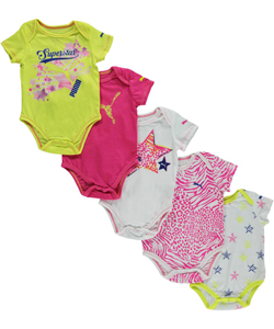 "Puma Baby Girls' ""Star Cat"" 5-Pack Bodysuits - CookiesKids.com"
