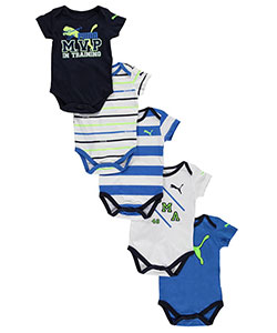 "Puma Baby Boys' ""Mommy's Little MVP"" 5-Pack Bodysuits - CookiesKids.com"