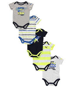 "Puma Baby Boys' ""Catch Me"" 5-Pack Bodysuits - CookiesKids.com"