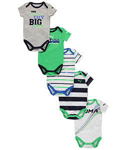 "Puma Baby Boys' ""Little Guy Big Game"" 5-Pack Bodysuits - CookiesKids.com"