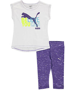 "Puma Little Girls' Toddler ""Believe You Can"" 2-Piece Outfit (Sizes 2T – 4T) - CookiesKids.com"