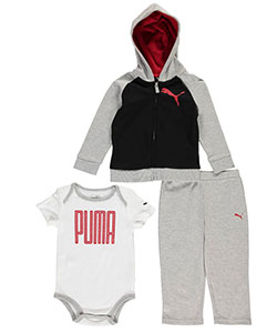 "Puma Baby Boys' ""Heathered Highlight"" 3-Piece Outfit - CookiesKids.com"