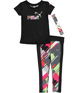 "Puma Big Girls' ""Paint Streak"" 3-Piece Outfit (Sizes 7 – 16) - CookiesKids.com"