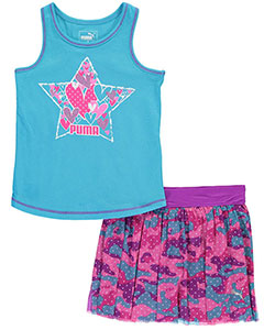 "Puma Little Girls' Toddler ""Sporty Hearts"" 2-Piece Outfit (Sizes 2T – 4T) - CookiesKids.com"