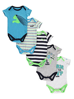 "Puma Baby Boys' ""New Guy, So Fly"" 5-Pack Bodysuits - CookiesKids.com"